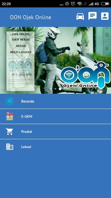 Screenshot 1 Aplikasi O2N Aplikasi