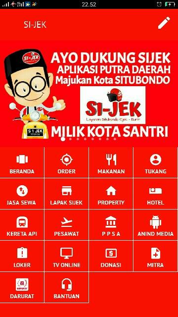 Tampilan Screenshot 1 SI-JEK