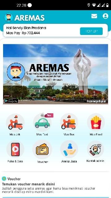 Screenshot 1 Aplikasi Aremas