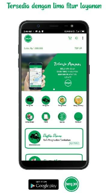 Screenshot 2 Aplikasi Bang jek