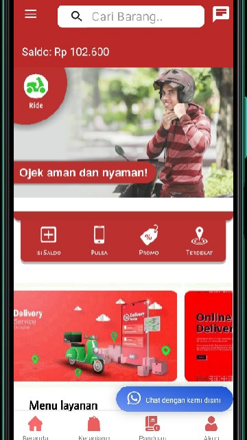 Screenshot 1 Aplikasi GOODRIVE