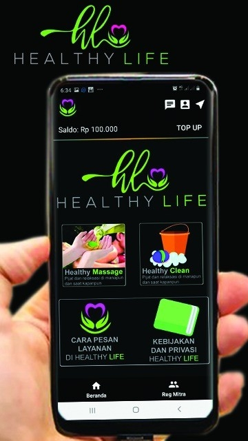 Screenshot 1 Aplikasi Healthy Life