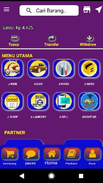 Screenshot 1 Aplikasi Jemput  Aja