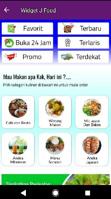 Screenshot 2 Aplikasi Jemput  Aja