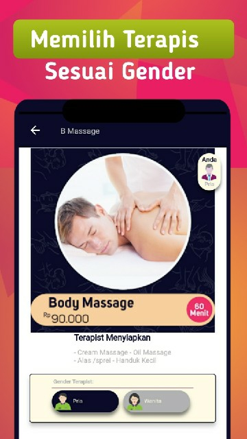 Screenshot 2 Aplikasi Kang Massage