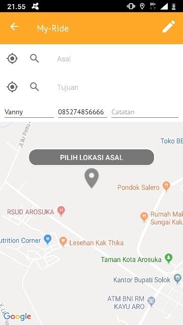Screenshot 2 Aplikasi My-Jek Solok