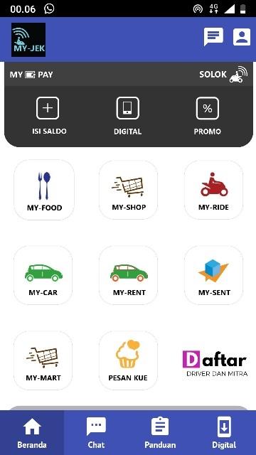 Screenshot 1 Aplikasi My-Jek Solok