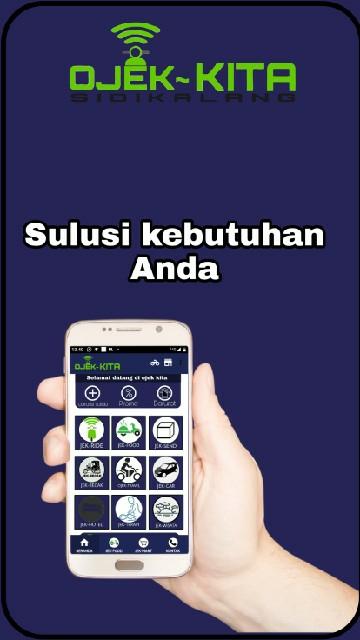 Screenshot 1 Aplikasi OJEK KITA