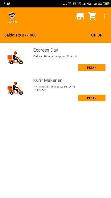 Screenshot 2 Aplikasi Raja Express