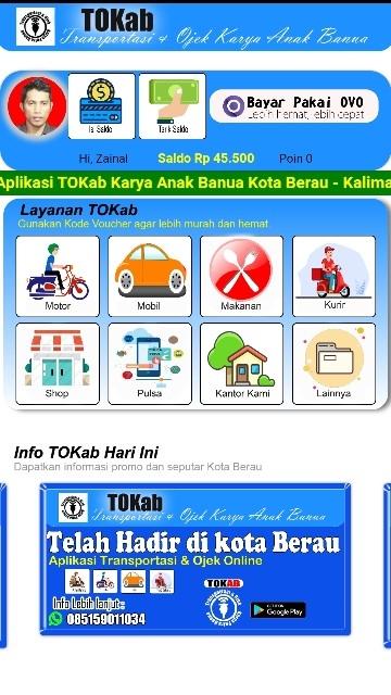 Screenshot 2 Aplikasi Tokab
