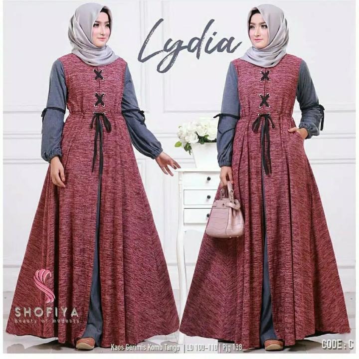 Lydia Dress  Gamis Serat  Dress Hijab 2