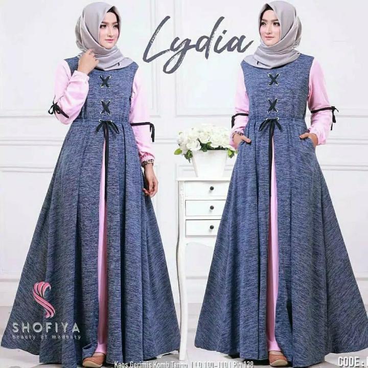 Lydia Dress  Gamis Serat  Dress Hijab 3