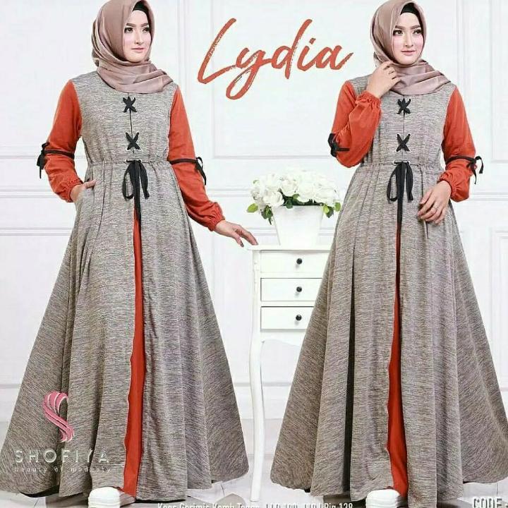 Lydia Dress  Gamis Serat  Dress Hijab 4