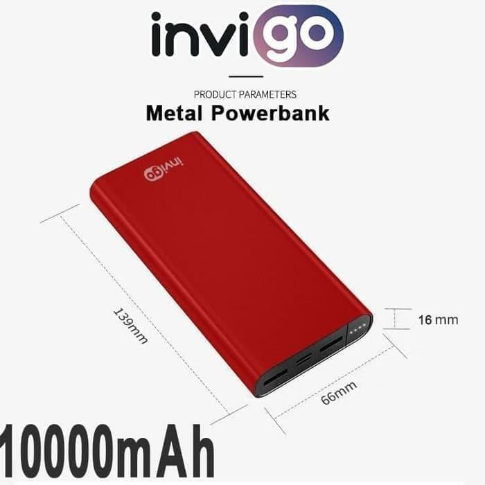 PowerBank Invigo Metal 10000mAH 2500 VP