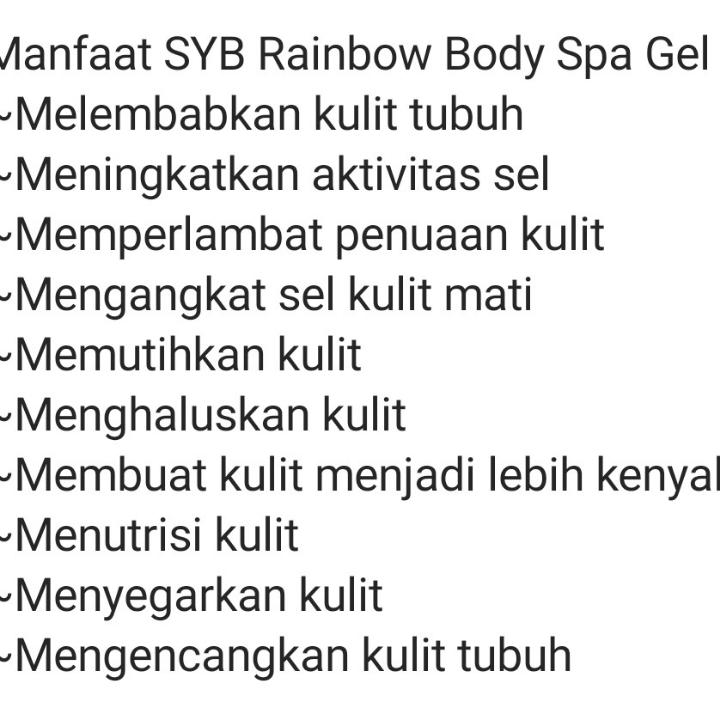 Rainbow Body Spa Gel SYB 2