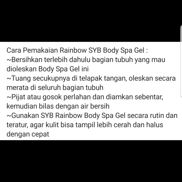 Rainbow Body Spa Gel SYB 3