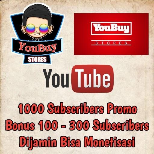 1000 Subscribers YouTube Promo Aktif