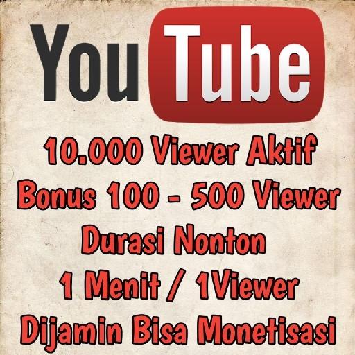 10000 Viewer YouTube Promo Aktif