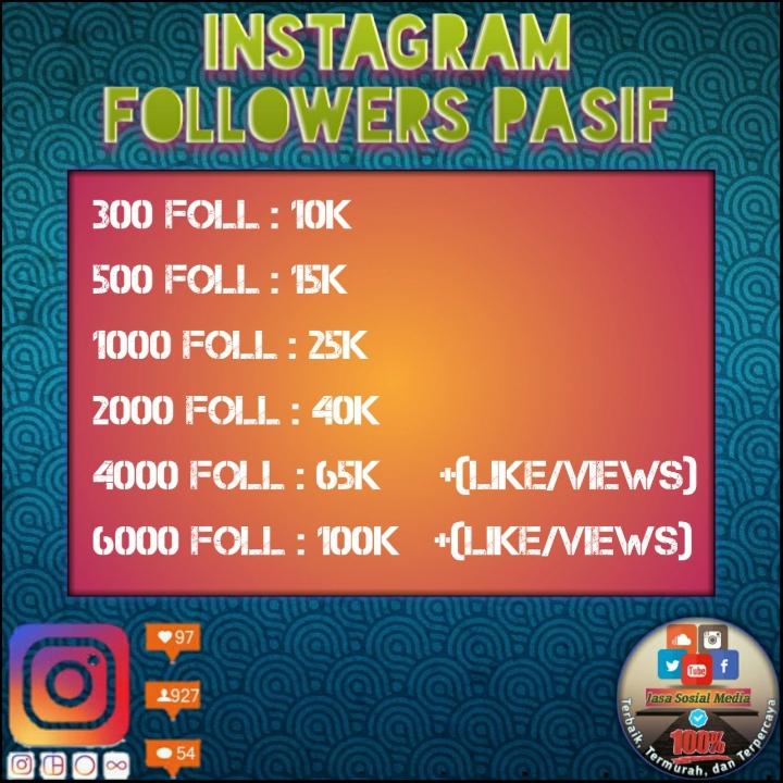 6000 Followers Pasif