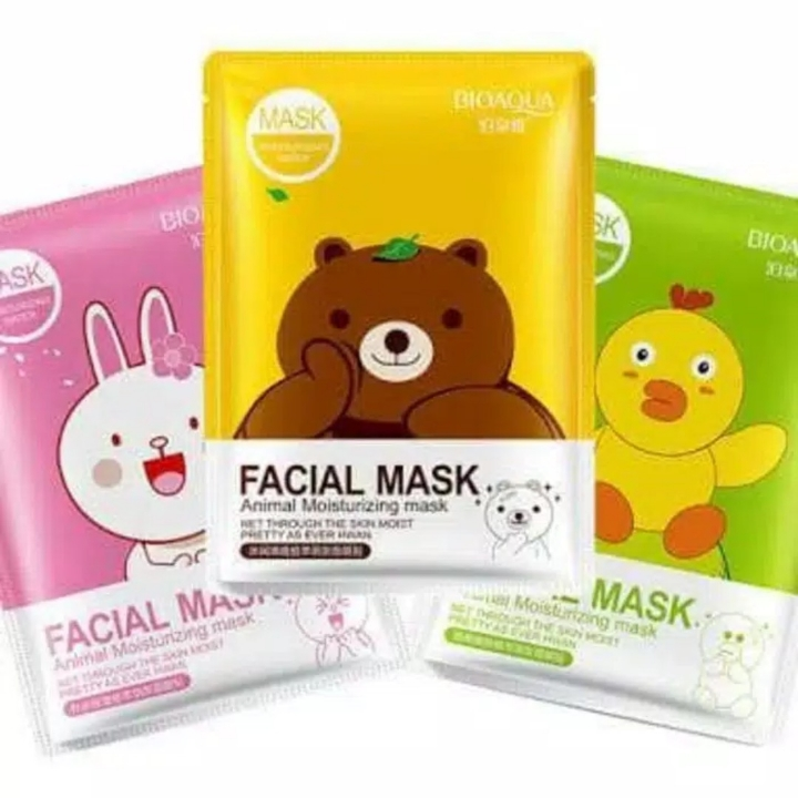 BIOAQUA ANIMAL MOISTURIZING FACIAL MASK LINE ICON