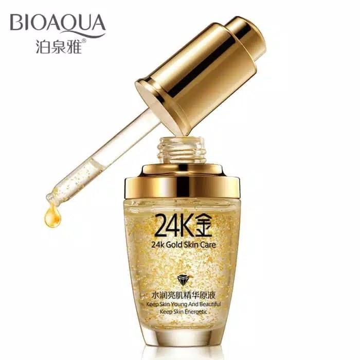 Bioaqua 24K serum gold skin care essence 30ml  serum wajah emas