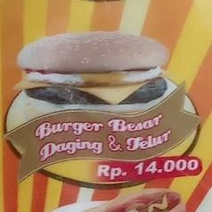 Burger Besar Daging Telor