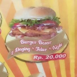 Burger Besar 2Daging Telor Keju