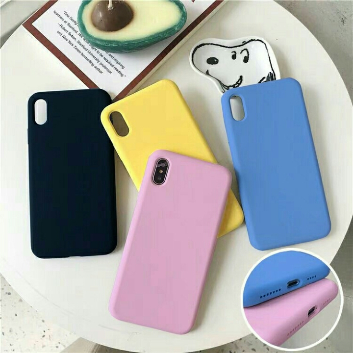 Casing Soft Case Macaroon Polos