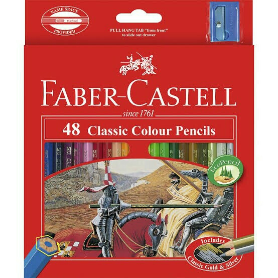 Clear Kayu Faber Castell 48 Classic