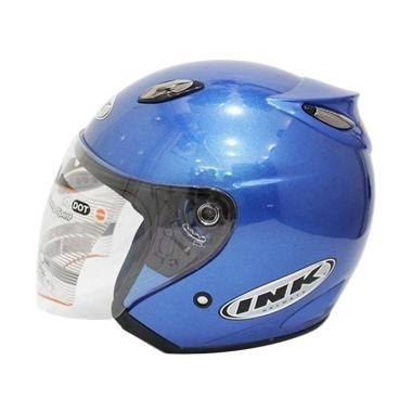 Helm INK Centro Basic Biru Metalik - Not Ori