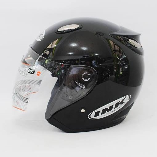 Helm INK Centro Basic Hitam Metalik - Not Ori