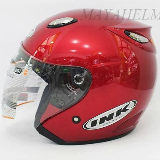Helm INK Centro Basic Maroon Jet - Not Ori