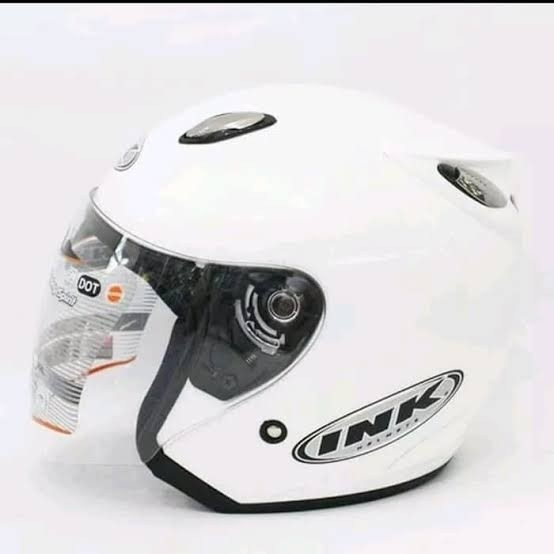 Helm INK Centro Basic Putih - Not Ori
