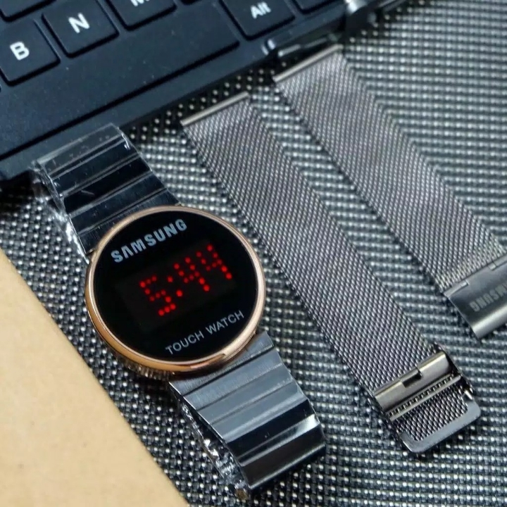 Jam Tangan Samsung Touch Silver Free Tali