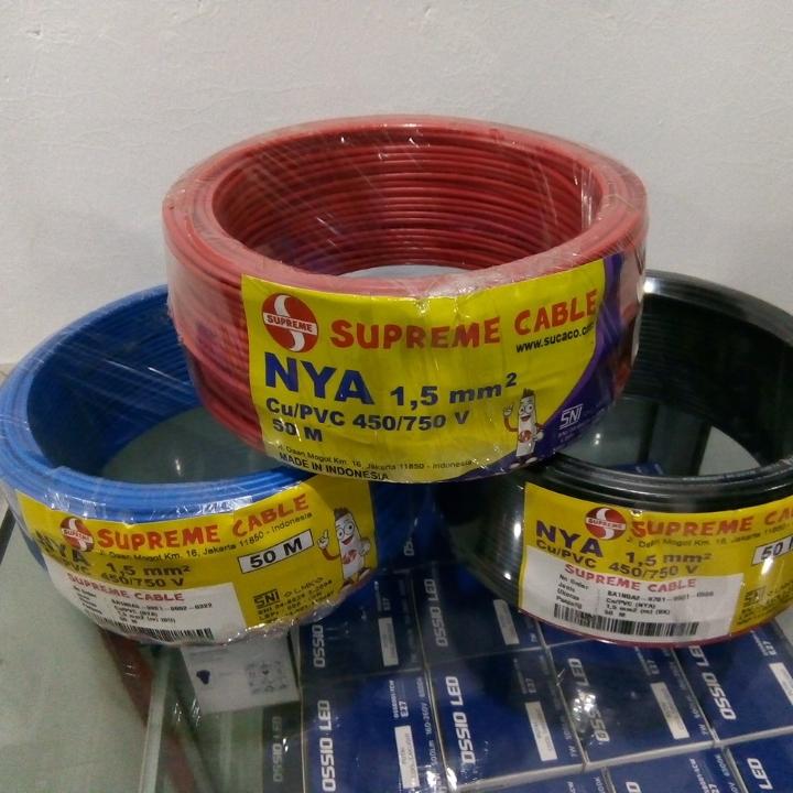 Kabel NYA Supreme 1 x 1-5 mm2 Ecer Meteran