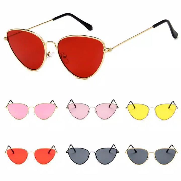 Kacamata Hitam Wanita Model Retro Cat Eye Sunglasses Women UV400 Prote
