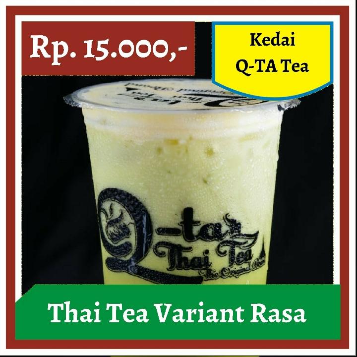 Kedai Q-TA - Thai Tea Variant Rasa