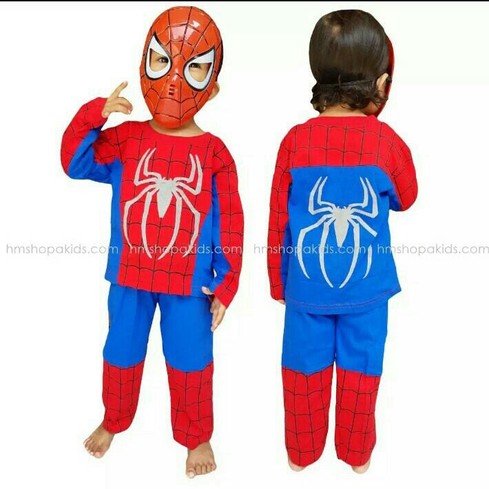 Kostum Spiderman 5-7thn