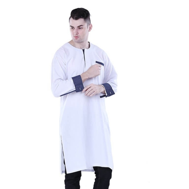 Kurta Gamis Muslim Pria Champ Pocket Distro - H 1121
