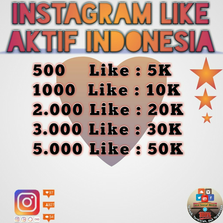 Like Aktif Indonesia 3000 like
