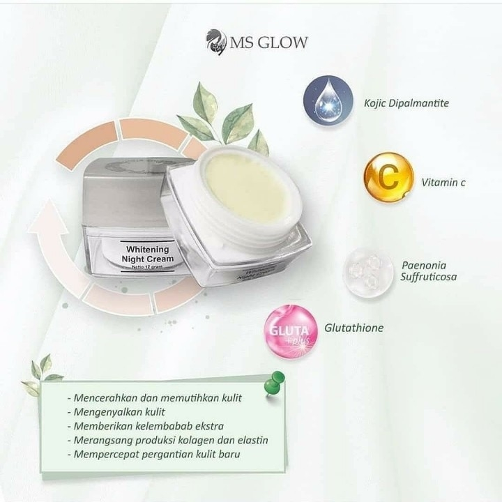 MS Glow Whitening Night Cream