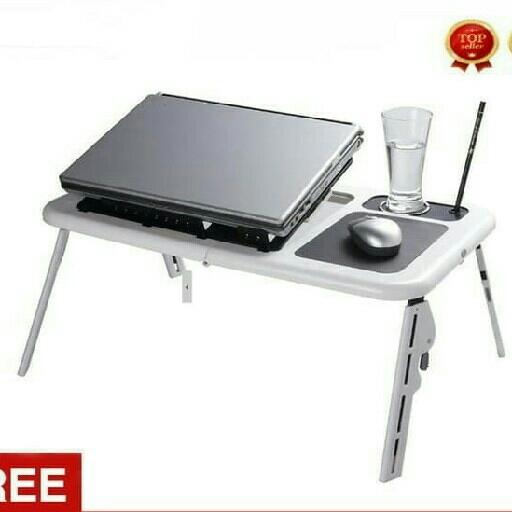 Meja Laptop Lipat Portabel Dengan Kipas Pendingin