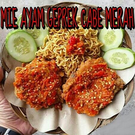 Mie Ayam Geprek Cabe Merah