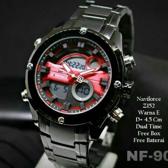 Naviforce Original Dualtime N9114 - Black 3