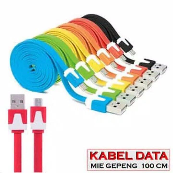 OBRAL Kabel Warna Pelangi 1 Meter gepeng  Micro USB