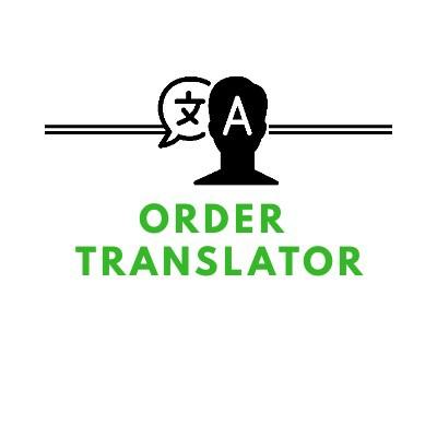 ORDER TRANSLATOR