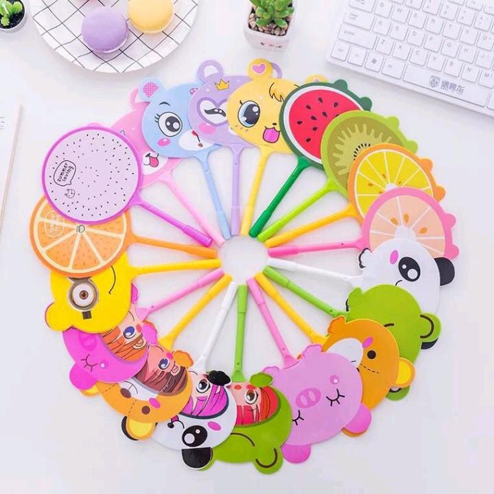 Pulpen kipas lucu hewan dan buah