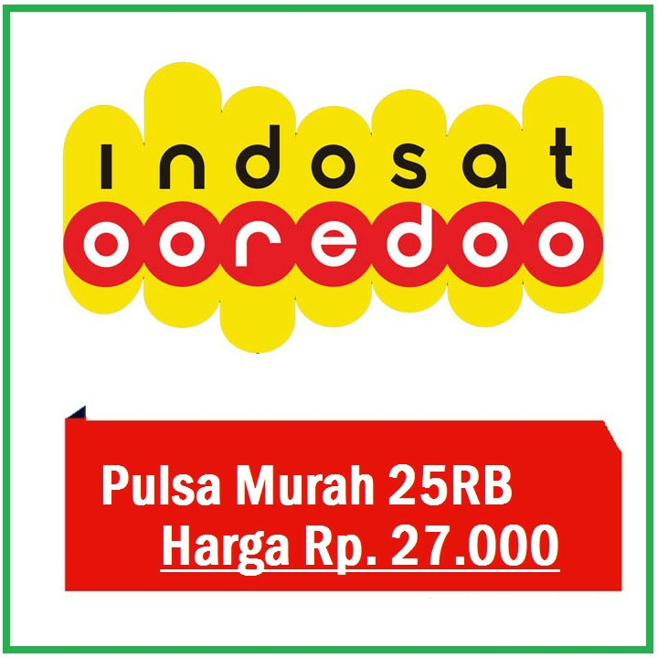 Pulsa Prabayar Indosat 25rb