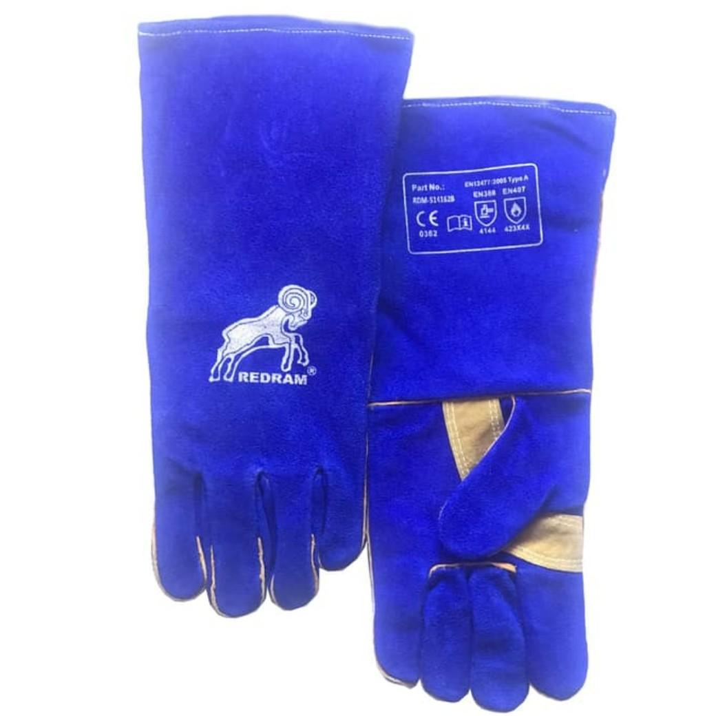 Redram Welding Glove Sarung Tangan Las - Blue 16 Inch