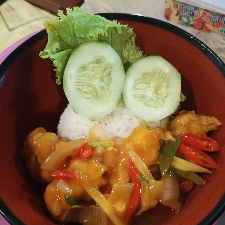 Rice Bowl ayam Saus Asam Manis